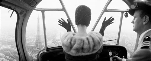 Cardin Hat over Paris, 1960